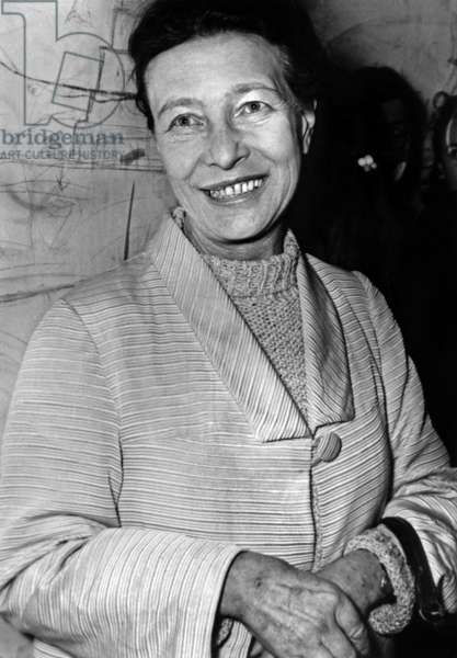 French Writer Simone De Beauvoir at Performance of Play