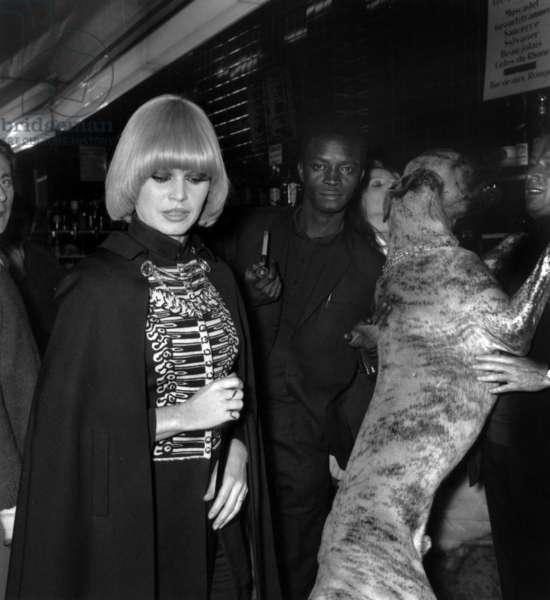 Brigitte Bardot at Biba Nightclub, Paris, 2 December 1967 (photo)