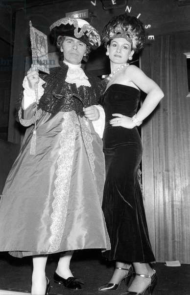 Karl Lagerfeld with Paloma Picasso at the Venetian Ball, Le Palace, Paris, 26 October 1978  (photo)