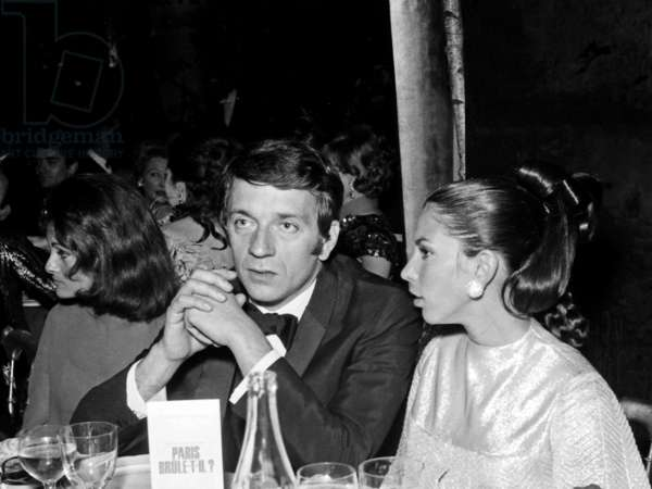 """Jean Pierre Cassel and his wife Sabine at the Premiere of the movie """"Paris Brule"""", 24 October 1966  (photo)"""
