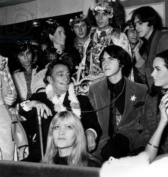 Spanish Painter Salvador Dali at a Party, Paris, 12 November 1967 (photo)