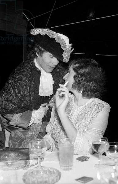 Karl Lagerfeld and Princess Soraya at the Venetian Ball at the Palace in Paris, 26 October 1978 (photo)