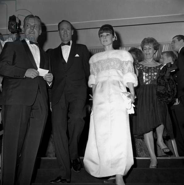 Audrey Hepburn and he Husband Mel Ferrer at at the Annual Children's Hospital Benefit Charity Ball, France, 14 January 1962 (photo)