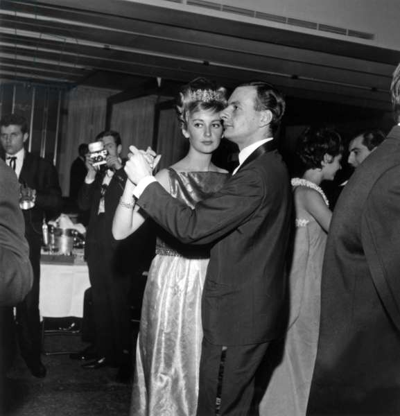 """Princess Paola of Belgium at The """"Bal des Petits Lits Blancs"""" (charity for hospitalized children), 14 January  1962 (photo)"""