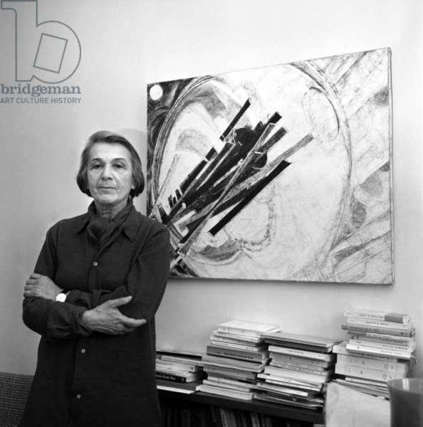 French writer Nathalie Sarraute at home, Paris, 15 January 1969 (photo)