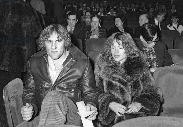 Gerard Depardieu (b/w photo)