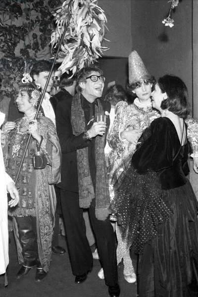 Yves Saint Laurent at a Fancy Dress Party at Nightclub Le Palace, Paris, 13 April 1978 (photo)
