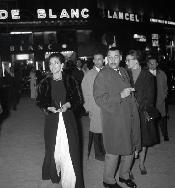 "Maria Callas at the screening of the film ""Phedre"", Paris Opera House, 15 October 1968 (photo)"