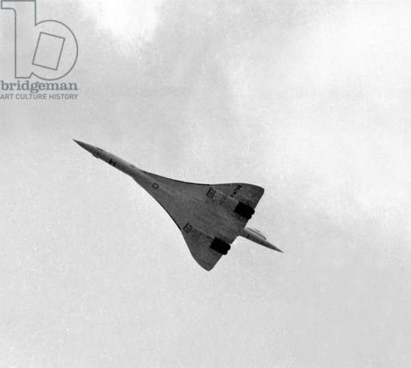 Vol de l'avion français Concorde, Salon du Bourget, Paris, 3 juin 1973 (photo)