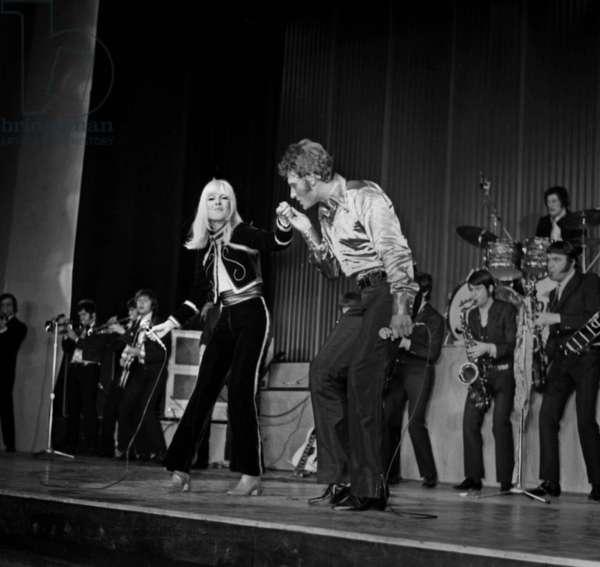 Premiere of Sylvie Vartan and Johnny Hallyday, Olympia, Paris, 16 March 1967 (photo)
