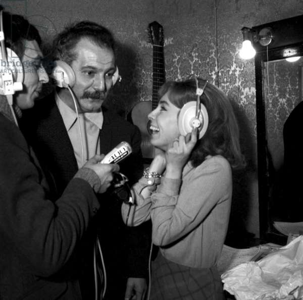 Georges Brassens and Georgette Lemaire at the Premiere of Georges Brassens, Bobino, Paris, 10 January 1967 (photo)