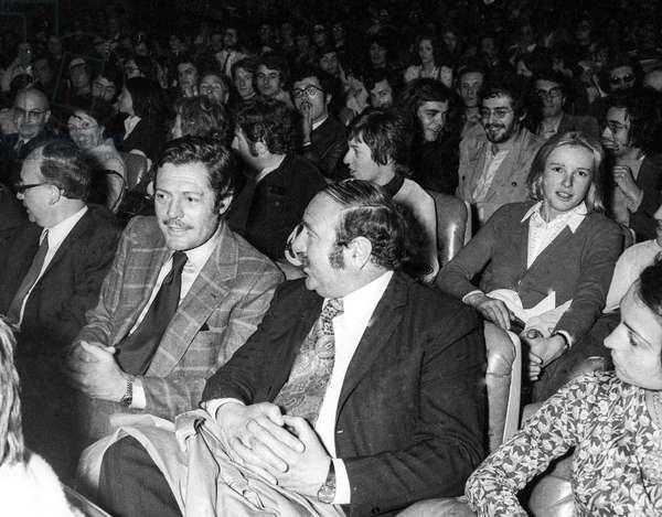 Marcello Mastroianni, Paris, May 27, 1972 (b/w photo)