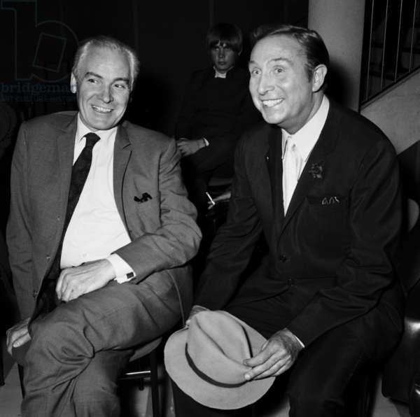 "Roland Gerbeau and Charles Trenet, TV Programme ""Palmares des Chansons"" April 20, 1967  (photo)"