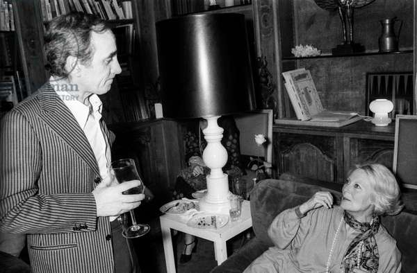 Charles Aznavour et Michele Morgan