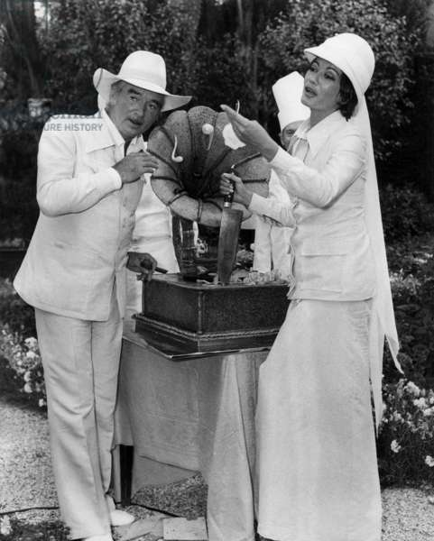 5th Eddie Barclay's wedding with Michele Desmazures at Neuilly, 21 June 1973 (photo)
