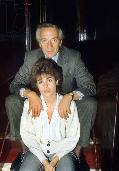 Jean-Pierre Cassel and his second wife Anne, 1984 (photo)