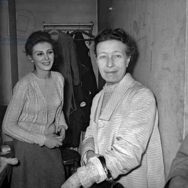 Nathalie Nerval and Simone de Beauvoir