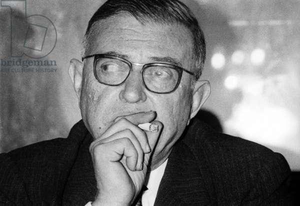 Jean Paul Sartre (Franch writer), Paris, 16 March 1964 (photo)