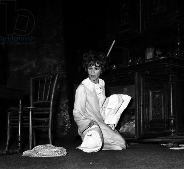 """Emmanuelle Riva in play """"La journee d'une reveuse"""", Paris, 9 January 1968,  (photo)"""