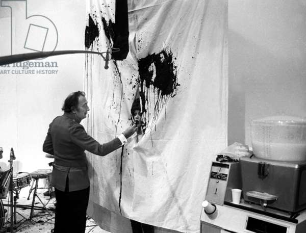 Painter Salvador Dali during the TV Programme