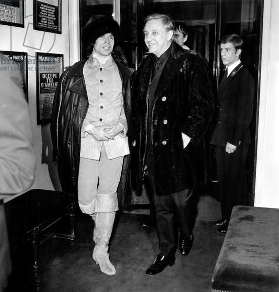 Rudolf Noureev and Dominique Paturel at the Premiere of Zizi Jeanmaire at Carino of Paris, 4 February 1970 (photo)
