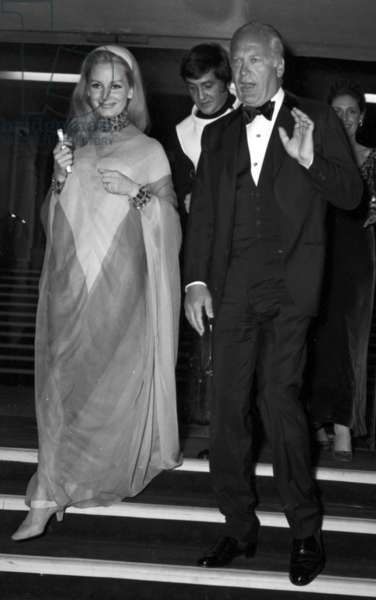 Eliette Von Karajan and Curd Jurgens at the Premiere of revue