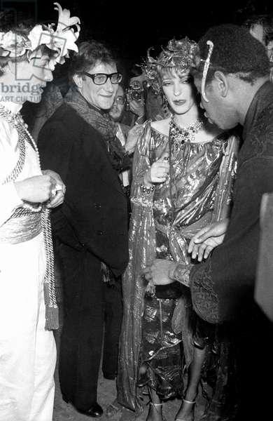 Thadee Klossowski de Rola, Yves Saint Laurent and Loulou de la Falaise at a Fancy Dress Party, Nightclub Le Palace, Paris, 13 April 1978 (photo)