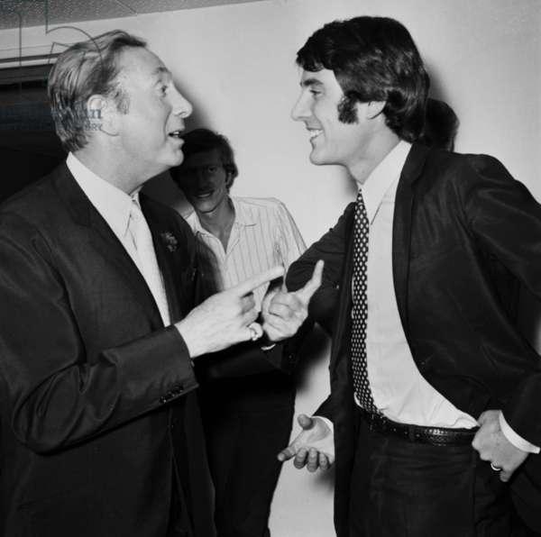 "Charles Trenet and Michel Delpech,TV Programme ""Palmares des Chansons"" 20 April 1967 (photo)"