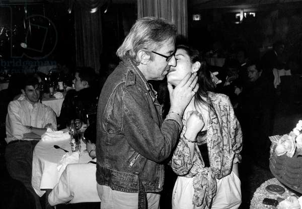 Serge Gainsbourg and his last Wife Bambou, Paris, 22 March 1988 (photo)
