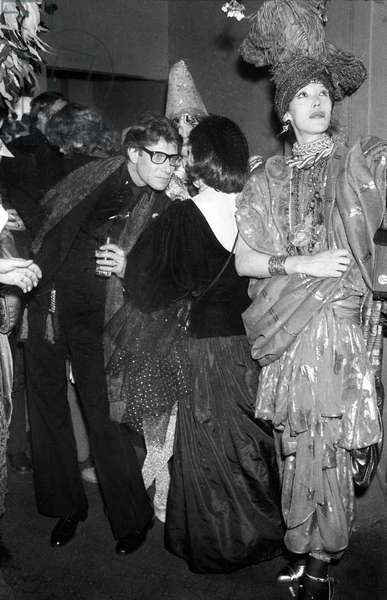 Yves Saint Laurent at a Fancy Dress Party at Nightclub Le Palace, Paris, 13 April 1978 (photo)