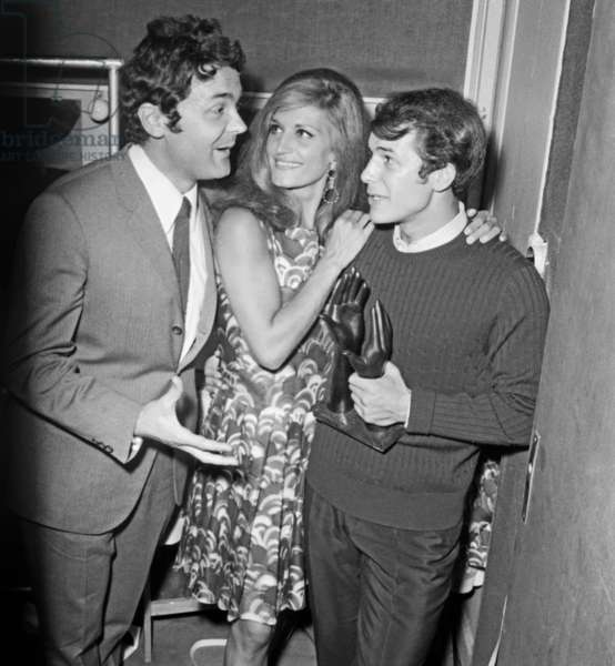 Pierre Perret, Dalida and Adamo