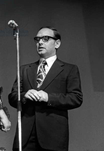 Italian composer Ennio Morricone at concert of Richard Cocciante, Paris, 1974  (photo)