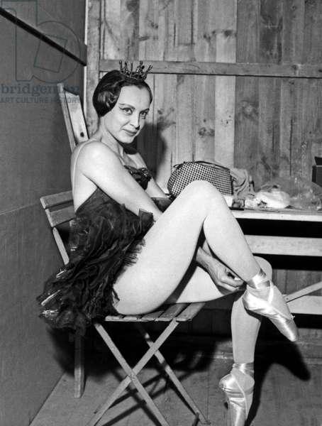 French Dancer Janine Charrat at the festival of  Marais, Paris, 3 June 1964 (photo)