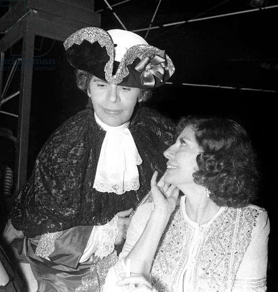 Karl Lagerfeld and Princess Soraya at the Venetian Ball at Le Palace, Paris, 26 October 1978  (photo)