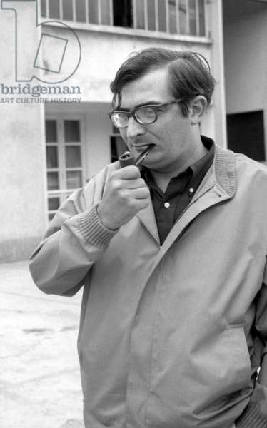 """Director Claude Chabrol on the set of the film """"The Champagne Murders"""" June 18, 1966 (photo)"""