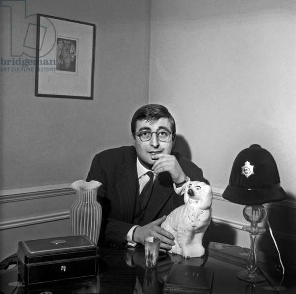 French actror Henri Tisot at home, Paris, 6 February 1969 (photo)