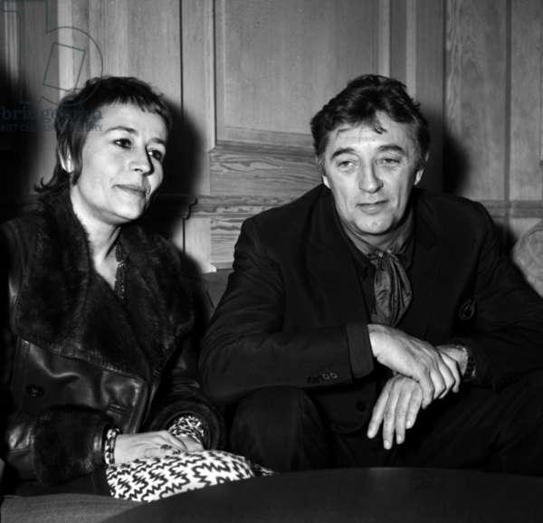 "Annie Girardot and Robert Mitchum at ""Club 13"", Paris, 14 January 1971 (photo)"