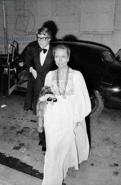 Yves Saint Laurent and Helene Rochaa, 31 May 1974 (photo)