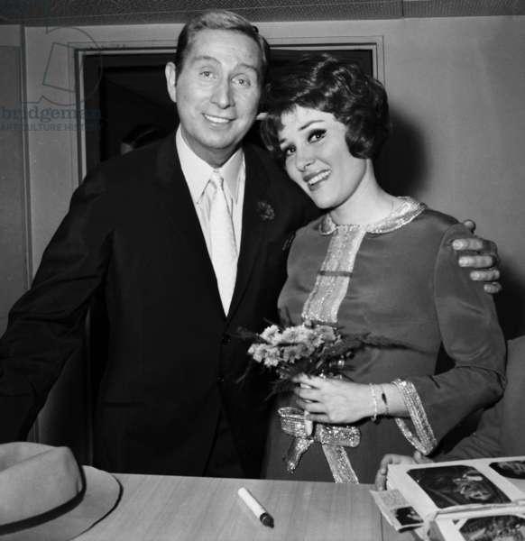 "Charles Trenet and Rika Zarai, TV Programme ""Palmares des Chansons"", 20 April 1967  (photo)"