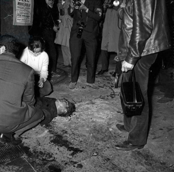 A wounded Student during the Students Demonstation, May 1968, Paris (photo)