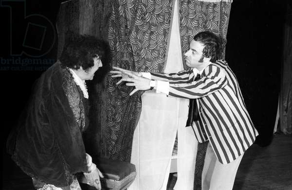 "Zappy Max and Franck Fernandel during the play ""Le Million"", Paris, 7 February 1972  (photo)"