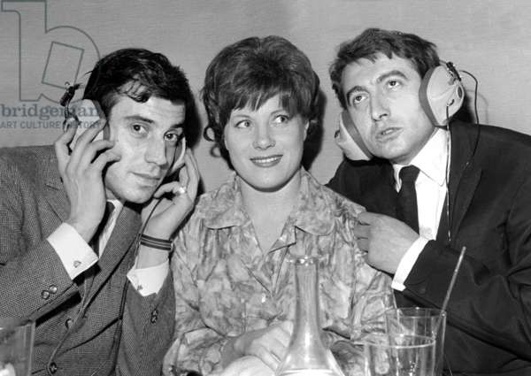 Franck Fernandel and Colette Renard at the Club de l'Etoile, Paris, 27 March 1964 (photo)