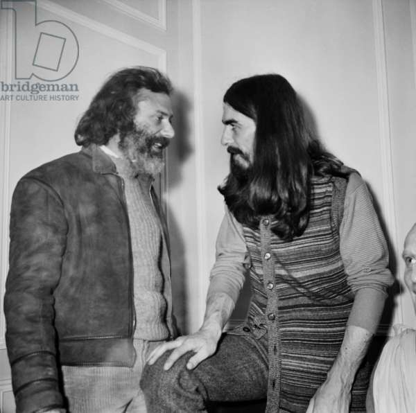 Georges Moustaki and George Harrison