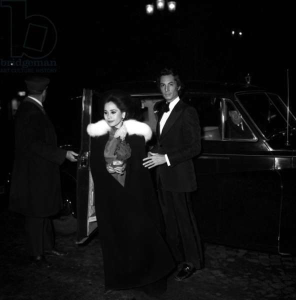 "Ratna Sari Dewi Soekarno arriving at Reginskaia for the release of the new perfume ""Nitchevo"", 18 October 1972 (photo)"