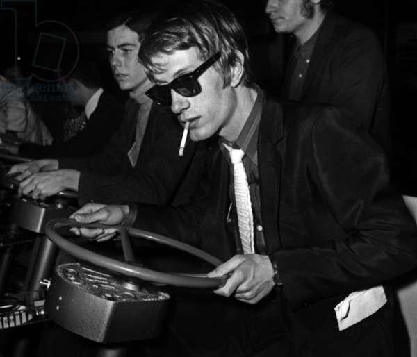 French Singer Jacques Dutronc in Miniland, Paris, 17 March 1967 (photo)