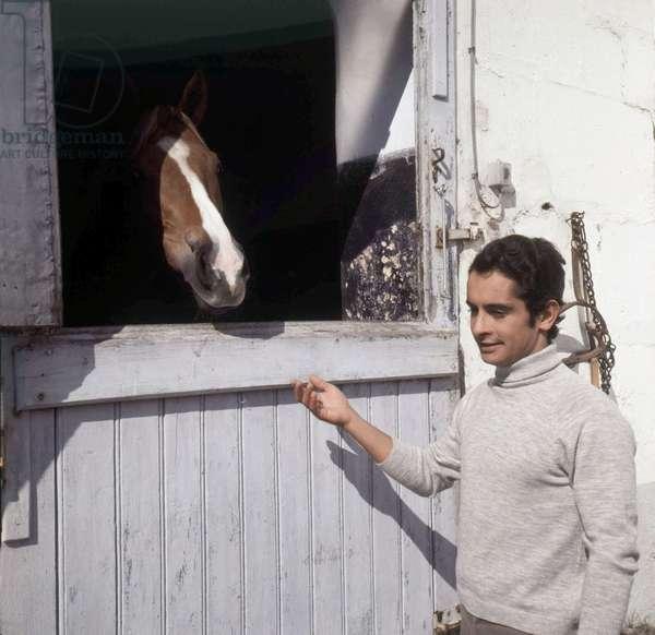 Jockey Yves Saint Martin in his property of Lamorlay (France), 17 March 1971 (photo)