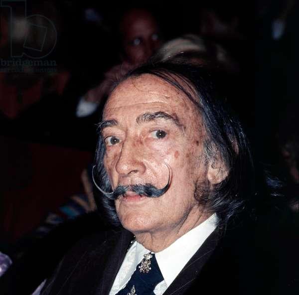 Artist Salvador Dali at the Lido cabaret in Paris, 1969 (photo)