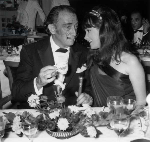Salvador Dali at a Party in Enghien, France, 1 December 1967 (photo)