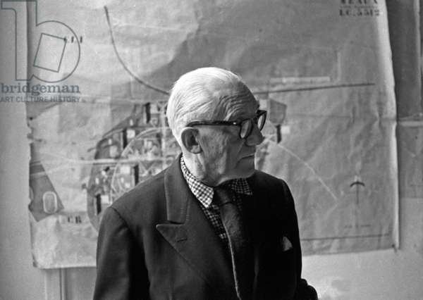 French architect Charles Edouard Jeanneret Gris aka Le Corbusier (1887-1965), Paris, 1 February 1963 (photo)