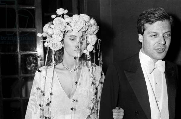 Olimpia Aldobrandini and her husband David de Rotschild at a Fancy Dress Party at the Nightclub Le Palace, Paris, 13 April 1978 (photo)